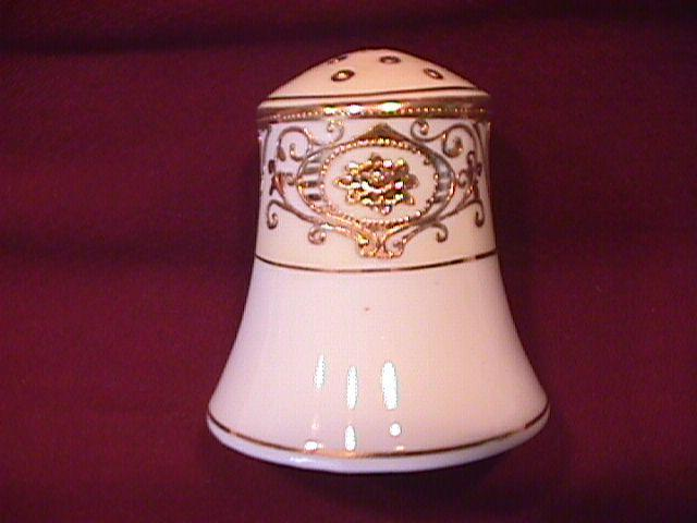 Noritake China-Nippon-(White & Gold) Salt or Pepper Style #4