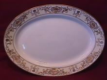 Noritake China-Nippon-(White & Gold) Roast Platter