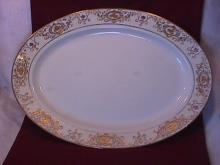 Noritake China-Nippon-(White & Gold) Turkey Platter