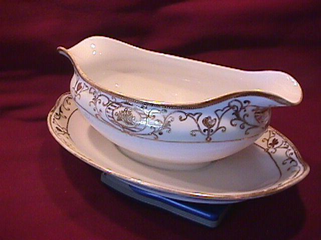 Noritake China (White & Gold) Gravy Style #3
