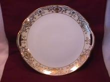 Noritake China (White & Gold) Handled Cake Plate