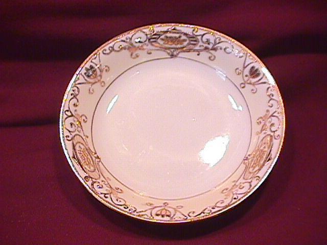 Noritake China-Nippon- (White & Gold) Fruit Bowl