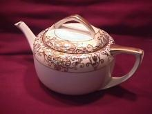 Noritake China-Nippon- (White & Gold) Rare-Tea Pot Style #1