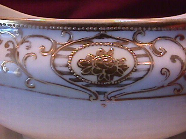 Noritake China-Nippon- (White & Gold) Mustard Jar-Bell Shape