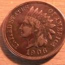 INDIAN HEAD Copper ONE CENT 1906 VERY FINE  CONDITION