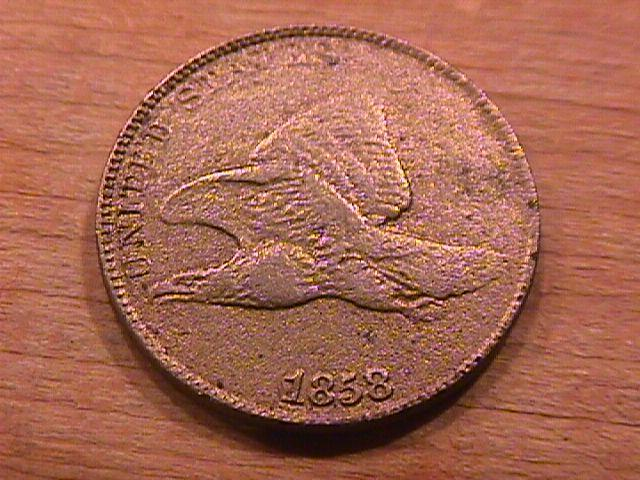 Flying Eagle One Cent 1858- Large Letters- Good Condition