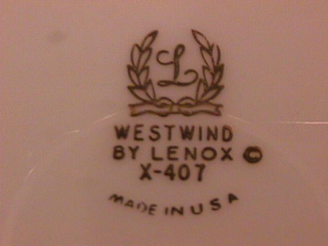 Lenox China (Westwind) #X-407 Dinner Plate