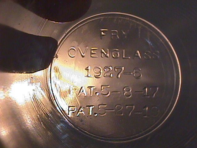 Rare= Fry Oven Glass Custard/Egg Cup
