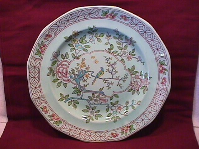 Adams Calyx Ware (Singapore Bird) Dinner Plate