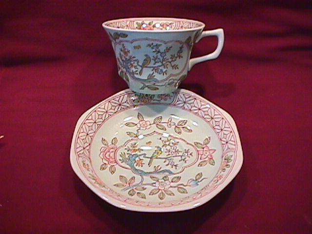 Adams Calyx Ware (Singapore Bird) Cup & Saucer