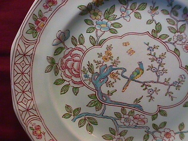 Adams Calyx Ware (Singapore Bird) Cereal Bowl