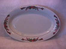Tienshan/Fairfield Fine China (Poinsettia Ribbon) Platter