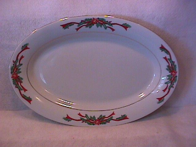 Tienshan/Fairfield Fine China (Poinsettia Ribbon) Platter