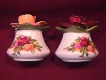 Royal Albert (Old Country Roses) Individual Salt & Pepper