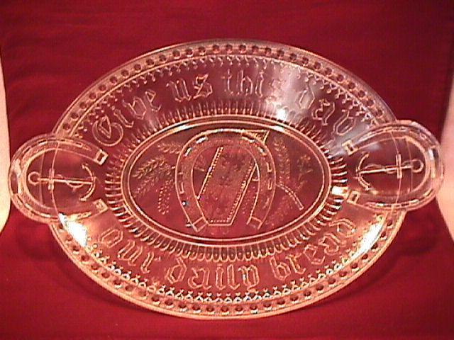 Adams & Co. 1881 Horse Shoe/Good Luck Bread Platter