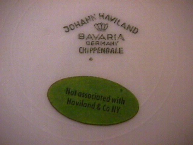 Johann Haviland (Chippendale Rose) Salad Plate