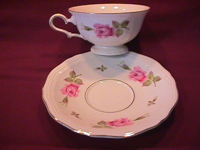 Johann Haviland (Chippendale Rose) Cup & Saucer