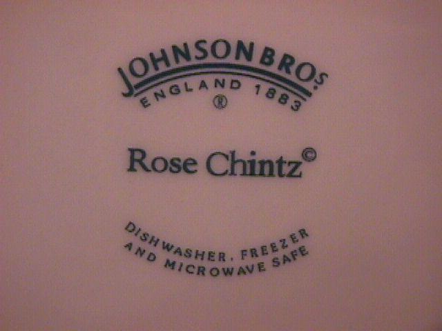 Johnson Brothers (Rose Chintz) Accent Dinner Plate