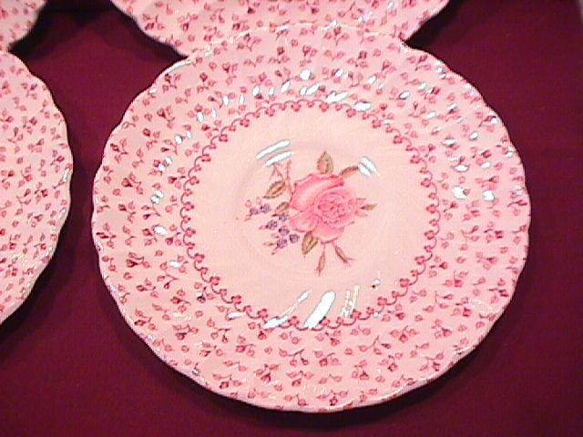 Johnson Brothers ( Rose Bouquet) 4-Saucers W/Indent
