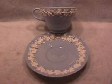 Wedgwood China Embossed (Queensware) Cup & Saucer