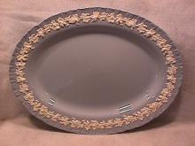 Wedgwood China Embossed (Queensware) Ham Platter