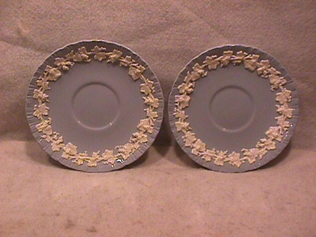 Wedgwood China Embossed (Queensware) 2-Saucers Only