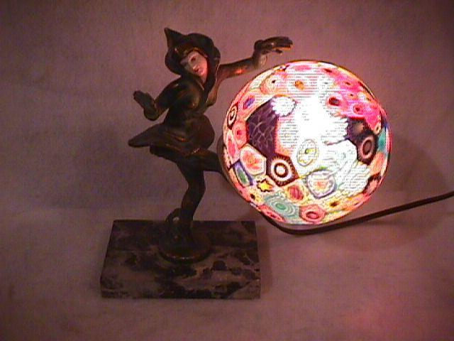 Art Deco (Millefiori)=Glass of a Thousand Flowers, TV Lamp