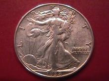 LIBERTY WALKING SILVER HALF DOLLAR 1938-D CHOICE VERY FINE