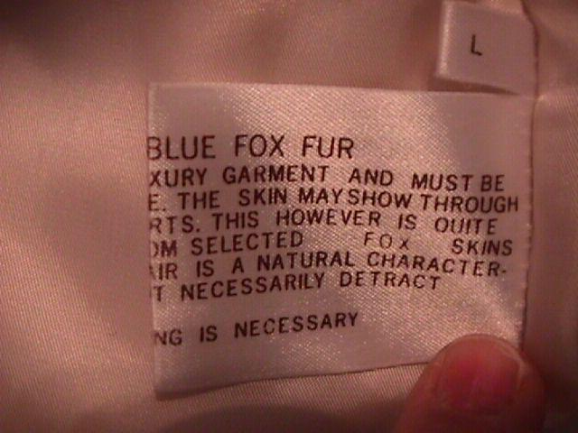 Luxury Norwegian Blue Fox Fur Coat- L