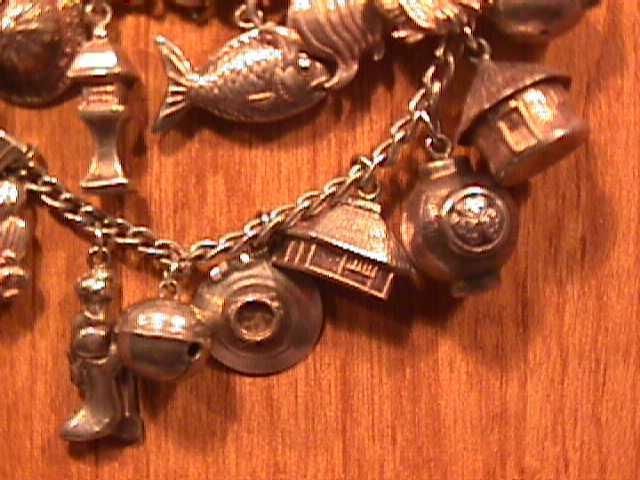 Sterling Oriental Charm Bracelet