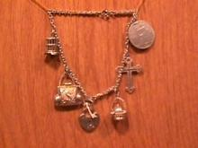 Vintage Sterling French Charm Bracelet