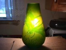 Galle Cameo Glass Dragonflies Vase