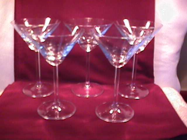 Set of (5) Martini Glasses
