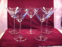 Set of (5) Martini Glasses