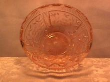 Beautiful Pink Depression (Pleated Cosmos) Centerpiece Bowl
