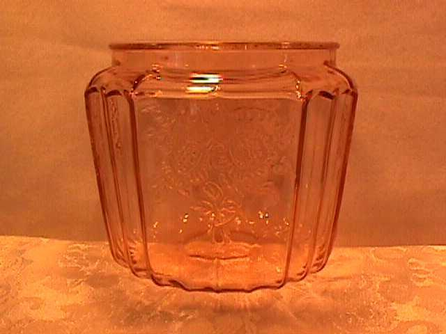 Vintage (Mayfair) Pink Depression Cookie Jar Bottom Only
