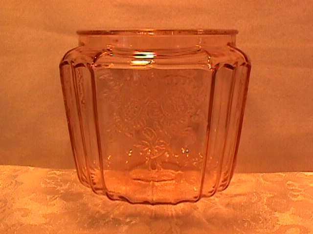 Vintage (Mayfair) Pink Depression Cookie Jar Bottom Only
