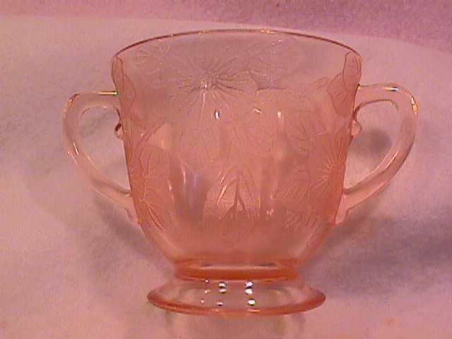 Mac Beth Evans Pink Depression (Dogwood) Sugar Bowl