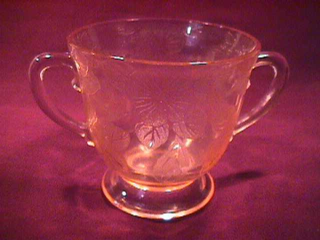Mac Beth Evans Pink Depression (Dogwood) Sugar Bowl