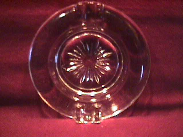 Set of 3-Rock Crystal Ashtrays