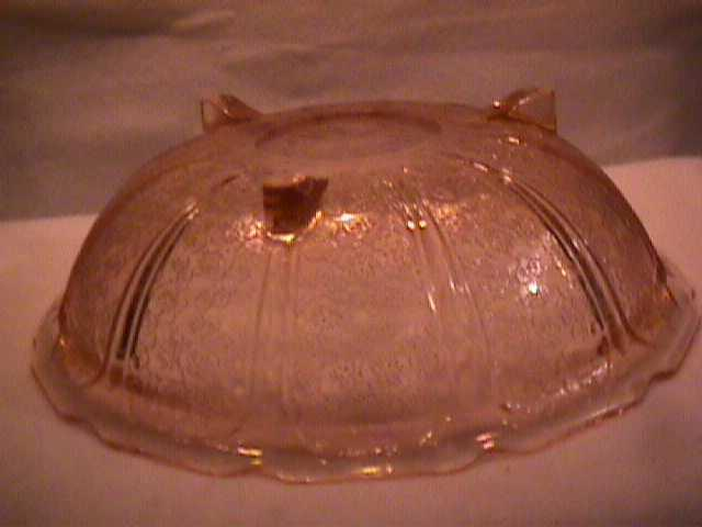 Jeanette Glass co. (Cherry Blossom) 3-Toed-Large Bowl