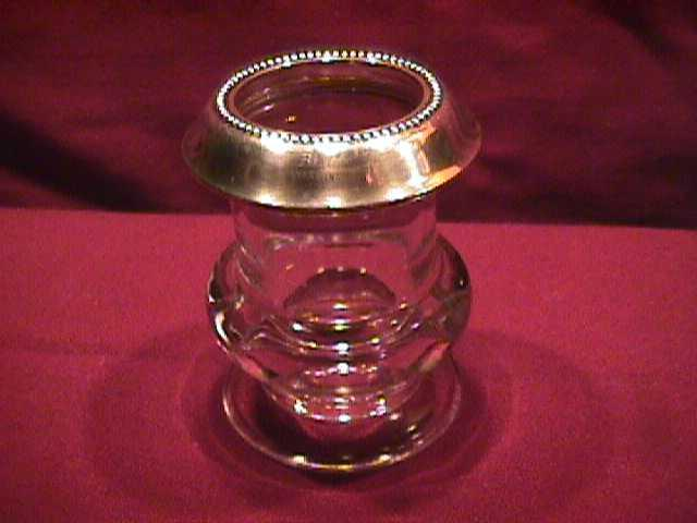 Crystal Cigarette Holder W/Sterling Top