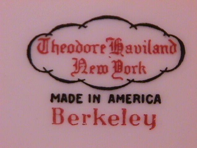 THEODORE HAVILAND CHINA NEW YORK