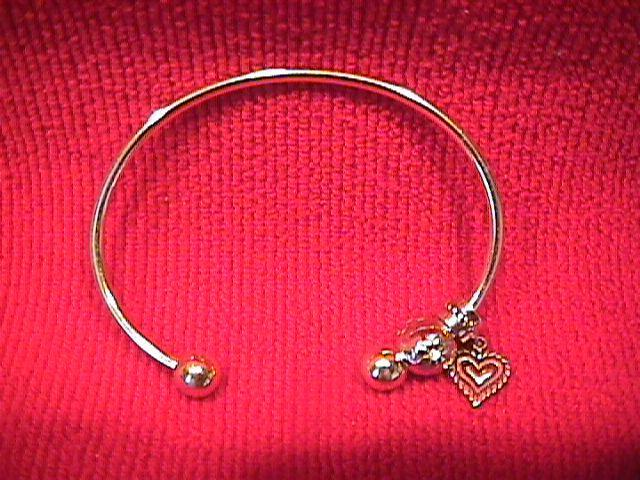 Ladies Sterling Charm Bracelet=Removable Ball End