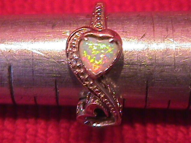 Sweetheart Sterling & Opal= 2-Heart ring-7