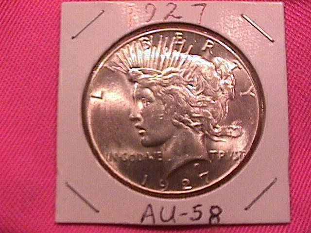 Peace Type Silver Dollar 1927 AU-58/ MS-63