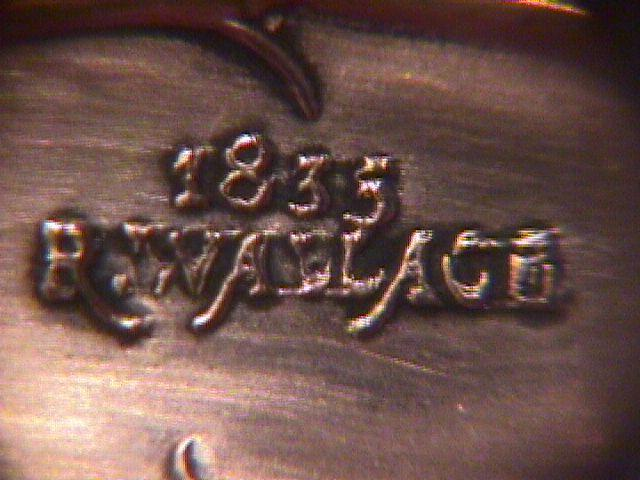Wallace, 1835 Silverplate (Floral) Punch Ladle=Monogram (S)