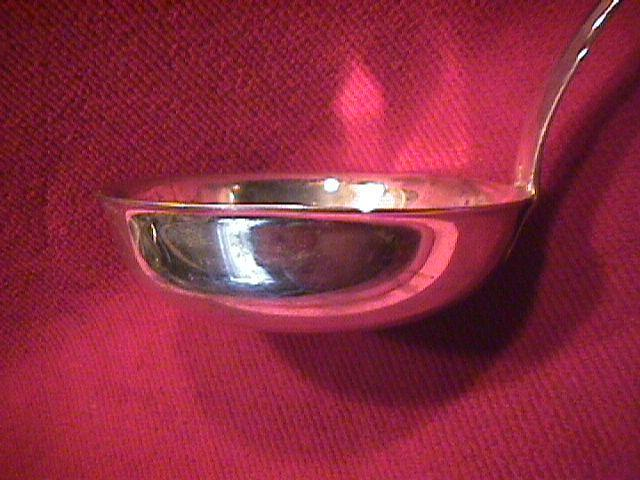 Norblin, Silverplate (Fiddle-Shape) Soup Ladle