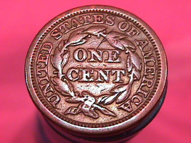 BRAIDED HAIR COPPER LARGE CENT  1848 GRADED  FINE-15