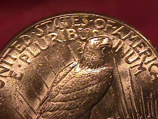Peace Type Silver Dollar 1927 MS #-63 Condition